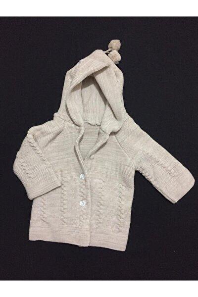 Unisex Bebek Ekru  Hırka Mont Bebek Üst Giyim Hırka Mont