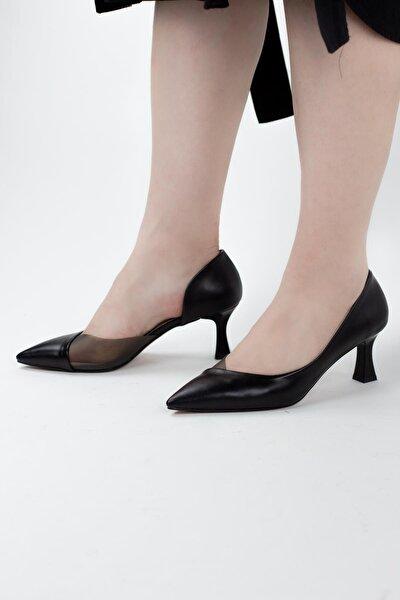Mirinda Renkli Şeffaf Detaylı Kadın Topuklu Ayakkabı
