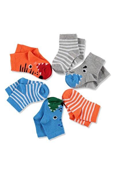 y Bebek 6'lı Soket Çorap Canavar