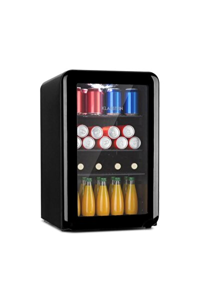 Poplife 65l Mini Buzdolabı Cam Kapaklı Minibar Siyah