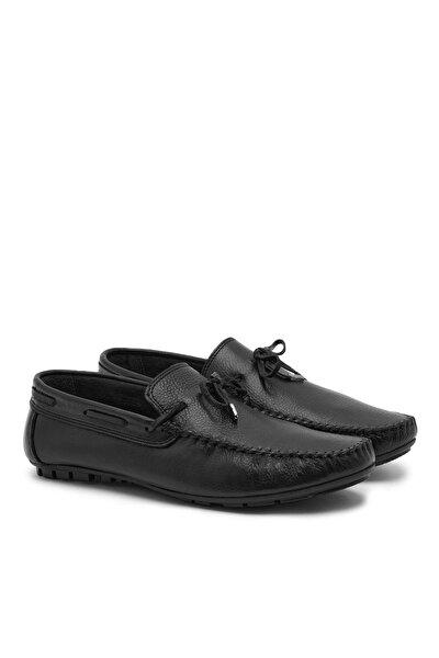 Siyah Leon Erkek Deri Loafer