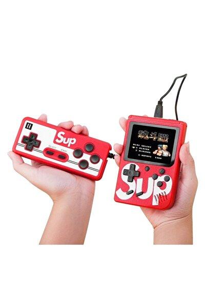 Çift Kol 400 Nostalji Oyunlu Mini Atari Kırmızı