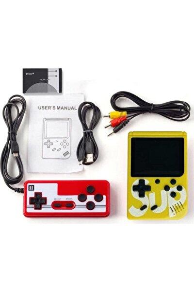 Sup Taşınabilir Video Oyun Konsolu 400 Oyunlu Mini Atari Gameboy 2 Oyunculu Sarı