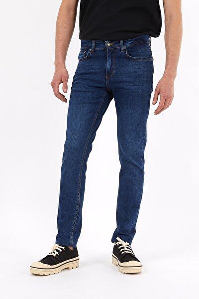 Erkek Mavi Slim Fit Essentials Jean