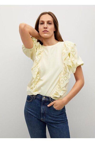 Delikli Pamuklu Tişört
