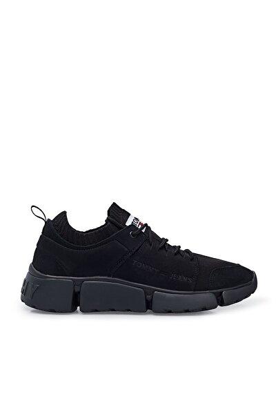 Erkek Siyah % 100 Deri Sneaker  Ayakkabı Em0em00679 Bds