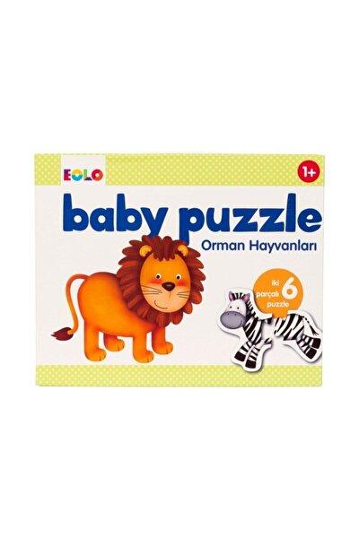 Baby Puzzle Orman Hayvanları İki Parçalı Altı Puzzle