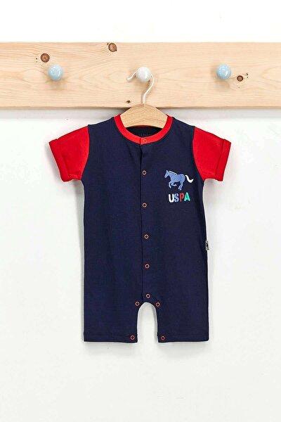 U.s. Polo Assn Lisanslı Lacivert Erkek Bebek Kısa Kol Tulum