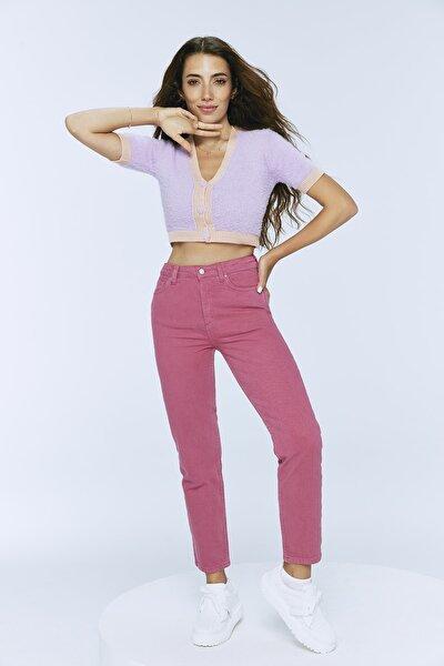 Gül Kurusu Yüksek Bel Mom Jeans TWOSS20JE0311