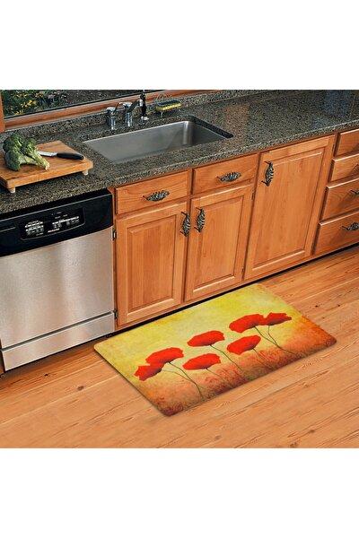 Gelincik Temalı Dekoratif Çok Amaçlı Paspas (kapıönü,banyo,mutfak Vb.)