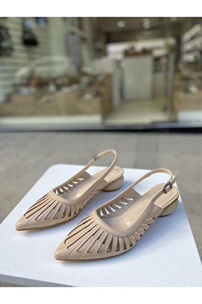 Ten Rengi Tasarım Topuk 3 Cm Topuklu Ayakkabı