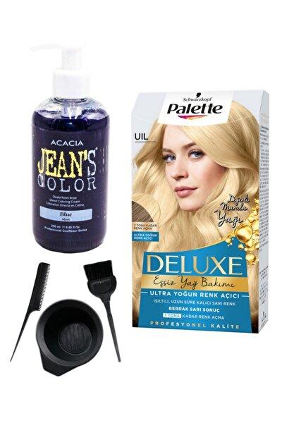 Deluxe Uıl Ultra Yoğun Renk Açıcı Ve Acacia Mavi Saç Boya Seti