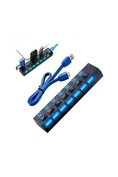 7 Port Usb 3.0 Çoklayıcı Hub Anahtarlı Işıklı On Off Chipli Model