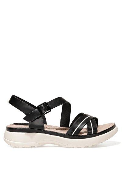ABILANIEL 1FX Siyah Kadın Kalın Tabanlı Sandalet 101027243
