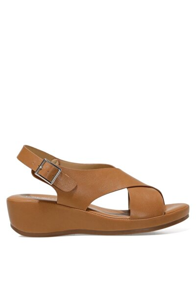 Kadın  Taba Dolgu Topuklu Sandalet