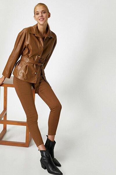 Kadın Deve Tüyü Jeans 1kak43684mw