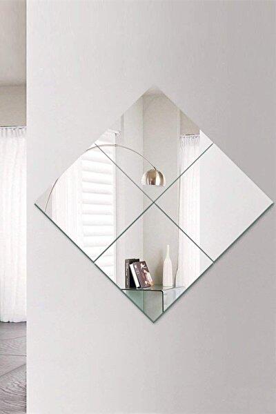 Kare  Dekoratif Cam Ayna 4'lü 30x30