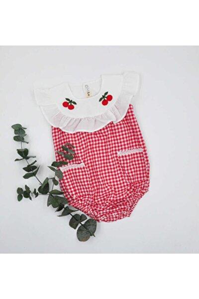 Kız Bebek Kırmızı Kiraz  Tulum - Lara