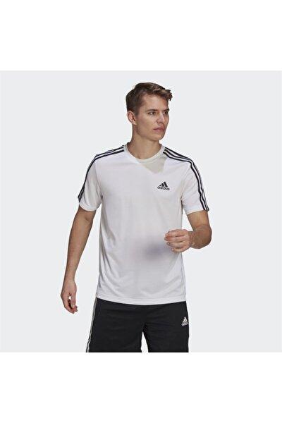 Erkek Beyaz Kısa Kollu T-shirt