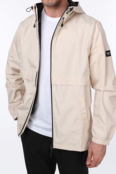 Erkek Taş Rüzgarlık/Yağmurluk Outdoor Yırtmaç Detaylı Mevsimlik Spor Ceket