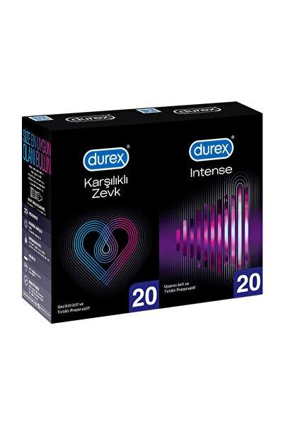 Karşılıklı Zevk Geciktiricili Prezervatif 20'li+Durex Intense Prezervatif, 20' li