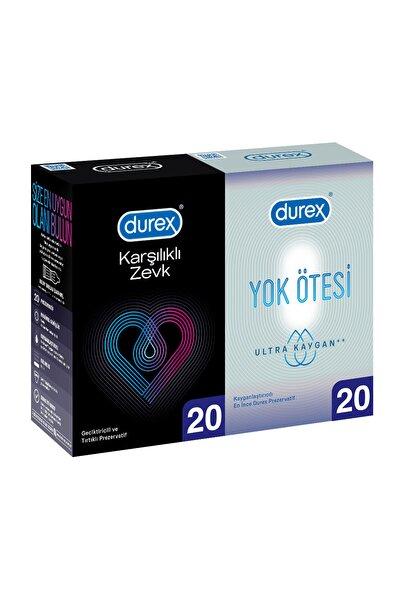 Karşılıklı Zevk+yok Ötesi Ultra Kaygan Prezervatif 40'lı Ekonomik Paket