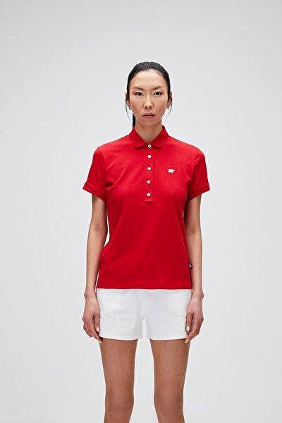 Kadın Parlak Kırmızı T-Shirt