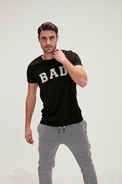 Siyah Erkek Tişört Bad Convex Tee Nıght