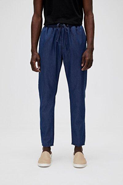 Erkek Mavi Chino İnce Kumaş Pantolon 20.01.16.003