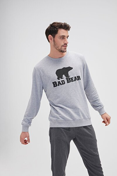 Crewneck Erkek Sweatshirt 20.02.12.011-graymelange