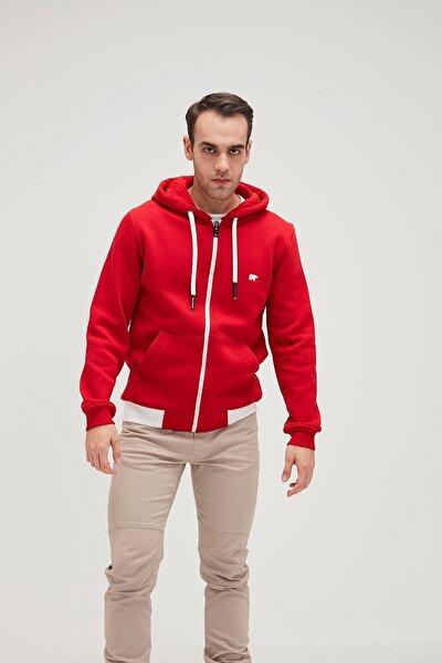 Erkek Kırmızı Humble Full Zıp Sweatshirt
