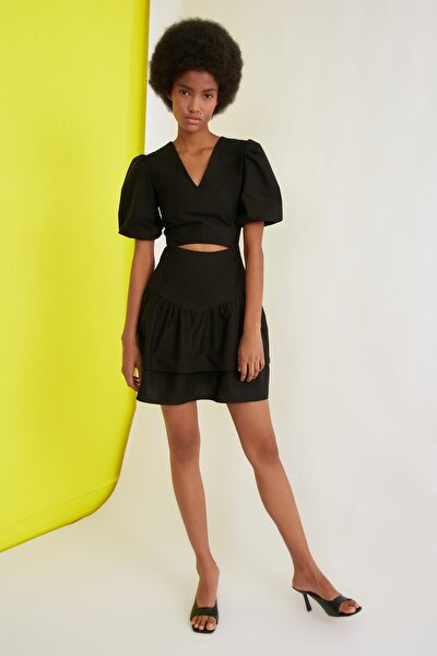 Siyah Dekolteli Elbise TWOSS21EL0526