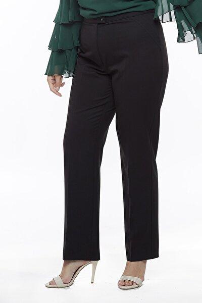 2555 Gizli Cep Modeline Sahip Büyük Beden Pantolon Siyah