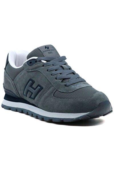 Unisex Gri Hakiki Deri Spor Ayakkabı