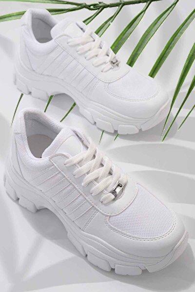 Beyaz Kadın Sneaker K01836001509