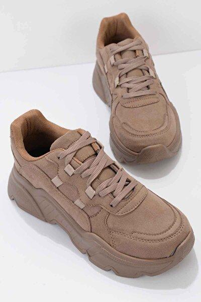 Vizon Süet Kadın Sneaker K01876011065