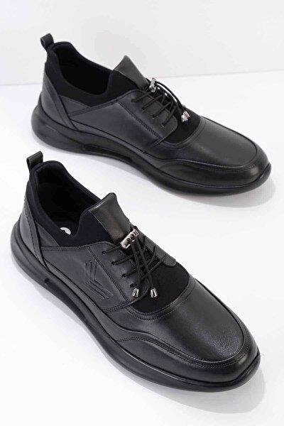 Hakiki Deri Siyah Erkek Casual Ayakkabı E01556005603