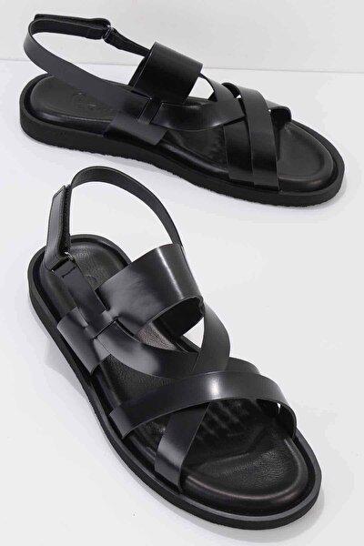 Siyah Açma Erkek Sandalet E05801453114