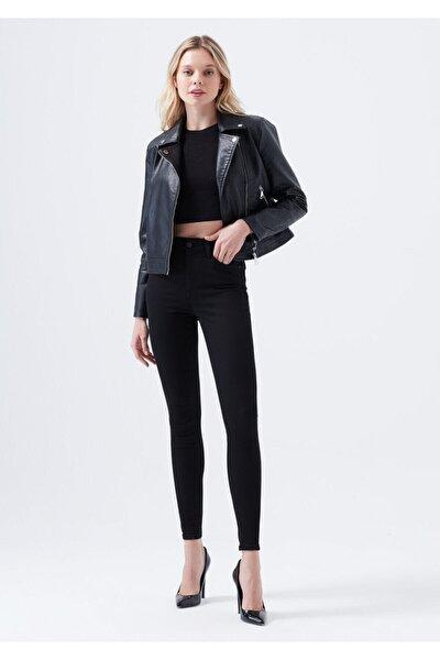 E.x.t.r.a Black Yüksek Bel Jeans Pantolon Solmaz Siyah Jeans(TOPARLAYICI)