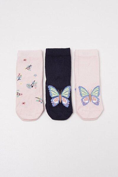 Kız Çocuk Siyah Soket Çorap 3'lü Paket