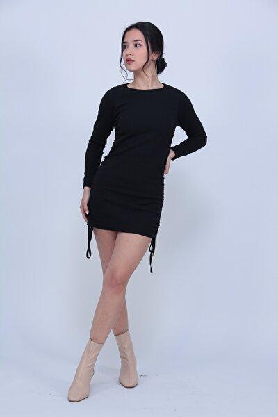 Kadın Büzgülü Kaşkorse Elbise