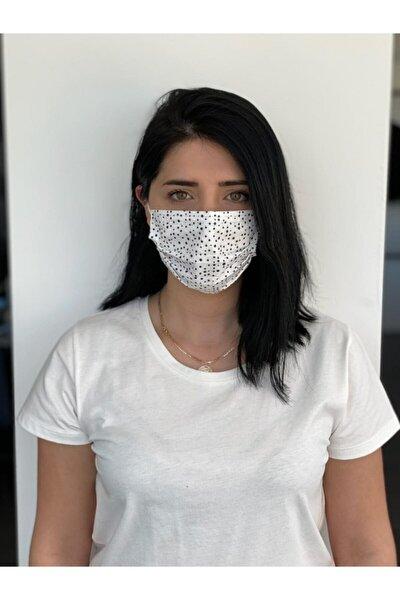 10 Adet Desenli Baskılı Maske, 3katlı, Burun Telli, Meltblown Ara Katman