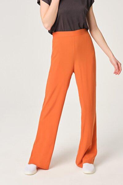 Kadın Tarçın Cupro Bol Kesim Pantolon