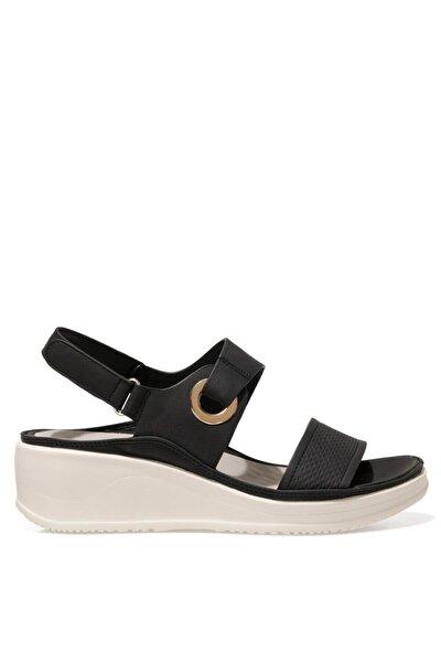 ACADDA 1FX Siyah Kadın Kalın Tabanlı Sandalet 101027256