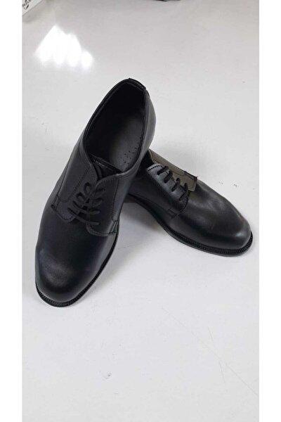 Erkek Siyah Yuvarlak Burun Ayakkabı