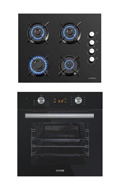 2'li Ankastre Set (B66-sf2 Ddt Dokunmatik Dijital Siyah Fırın- Lx-40 Tahdf Siyah Ocak)