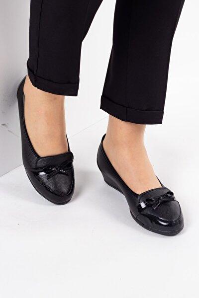 Kadın Siyah Babet - Anne Babet - Anne Ayakkabı Twoss135618