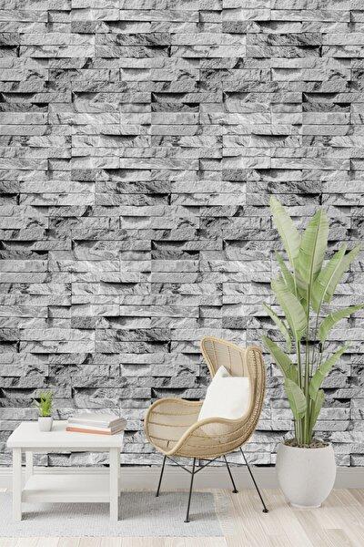 Taş Desen Gri Duvar Kağıdı 5,30 M² 9360