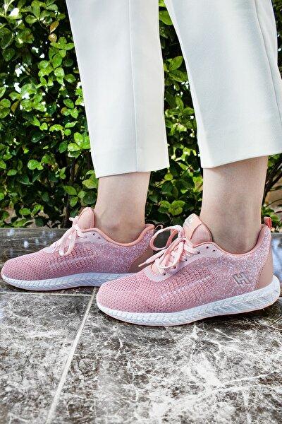 Pudra Pembe Spor Yürüyüş Sneaker Ayakkabı