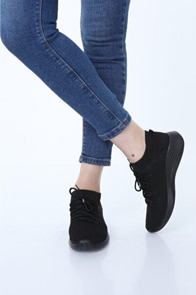 Kadın Siyah Comfort Çorap Ayakkabı